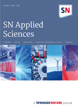 First articles in new SN Applied Sciences journal now online
