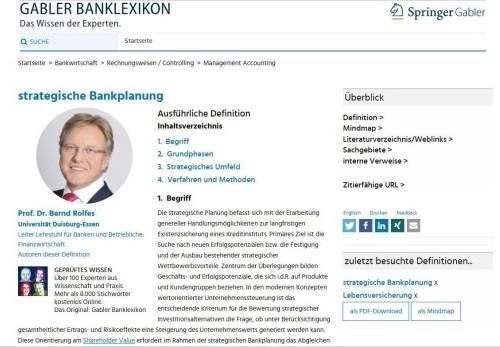 Gabler Banklexikon erscheint online
