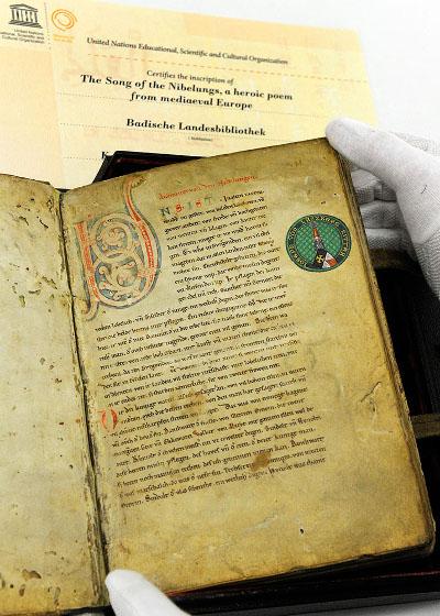 Zehn Jahre UNESCO-Weltdokumentenerbe Nibelungenlied