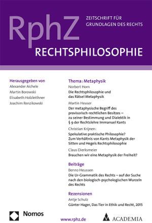 """Nomos verlegt ab sofort die """"Rechtsphilosophie. Zeitschrift für die Grundlagen des Rechts"""""""